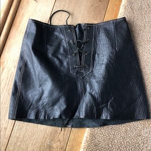 Leather lace up Free People skirt